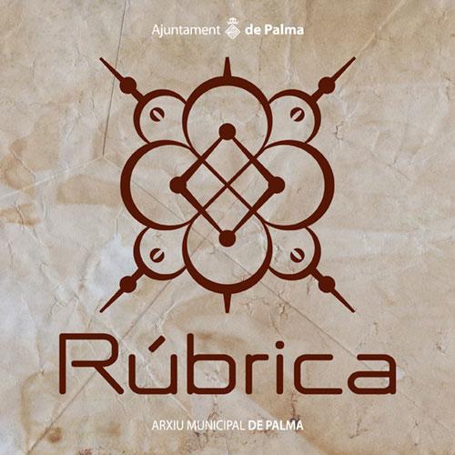 "Diseño de logotipo ""Col·lecció Rúbrica"" Arxiu Municipal de Palma"