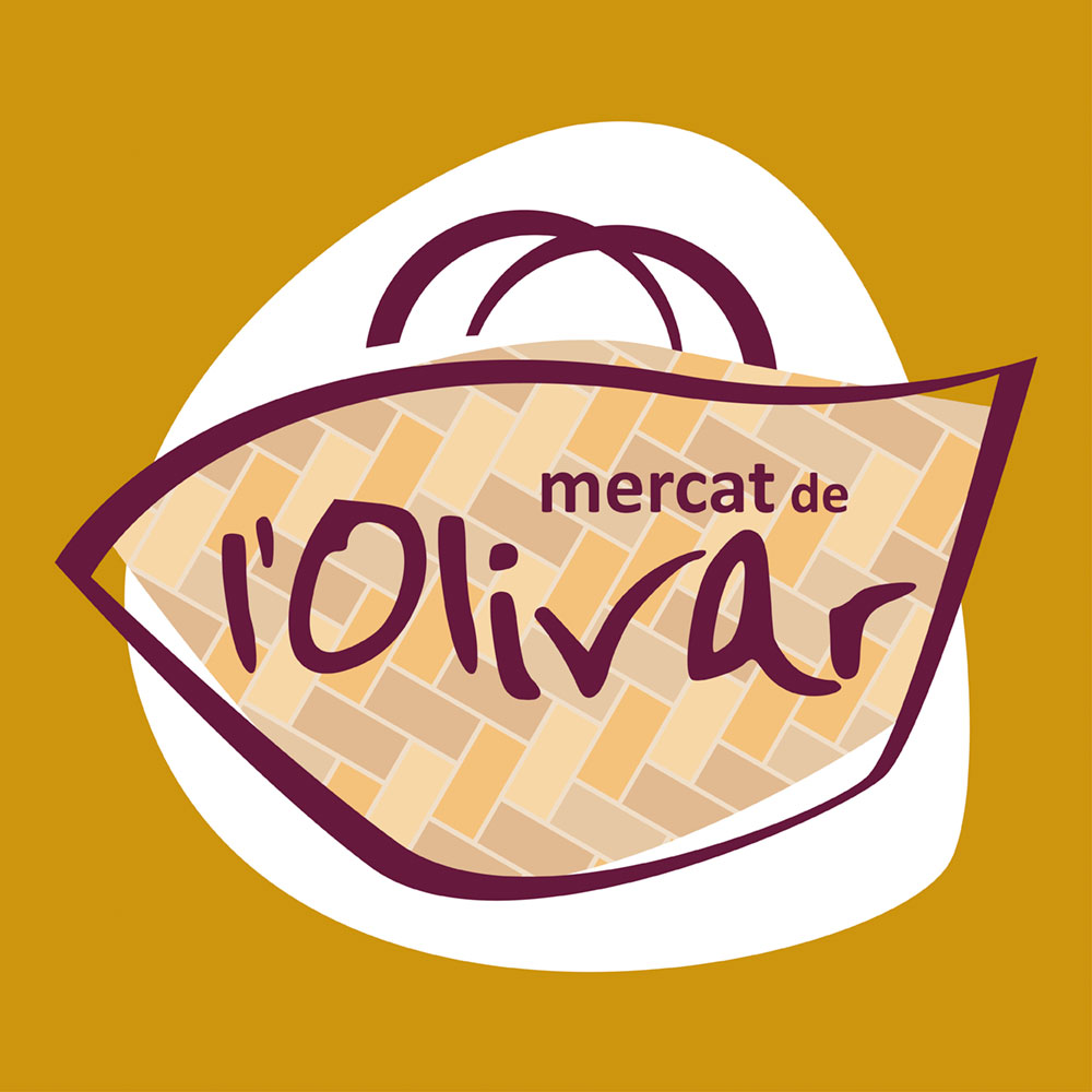 """Diseño de marca logotipo identidad corporativa """"Mercat de l'Olivar"""""""