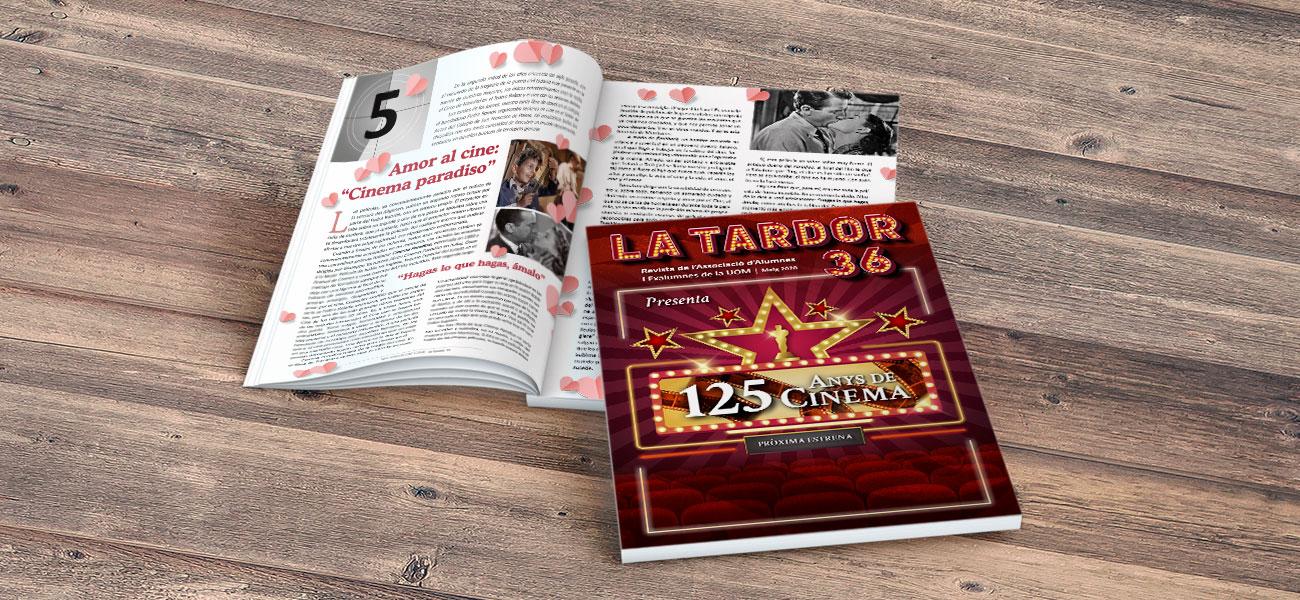 "Diseño editorial portada revista ""La Tardor"" AUOM UIB nº 36"