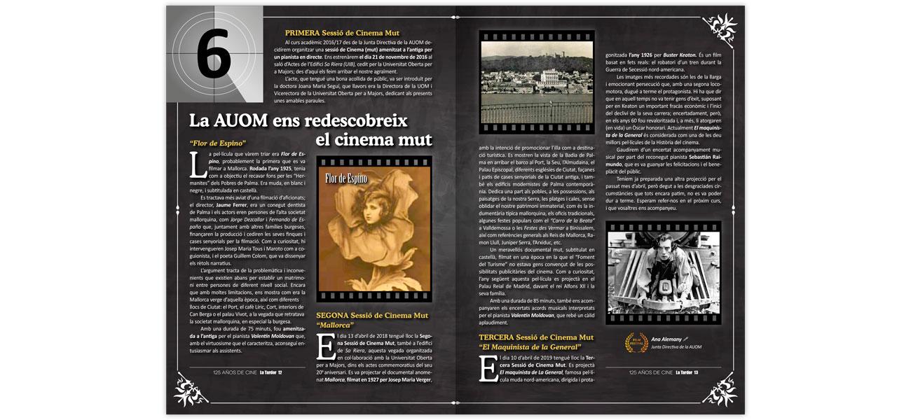 "Diseño editorial revista ""La Tardor"" AUOM UIB nº 36"