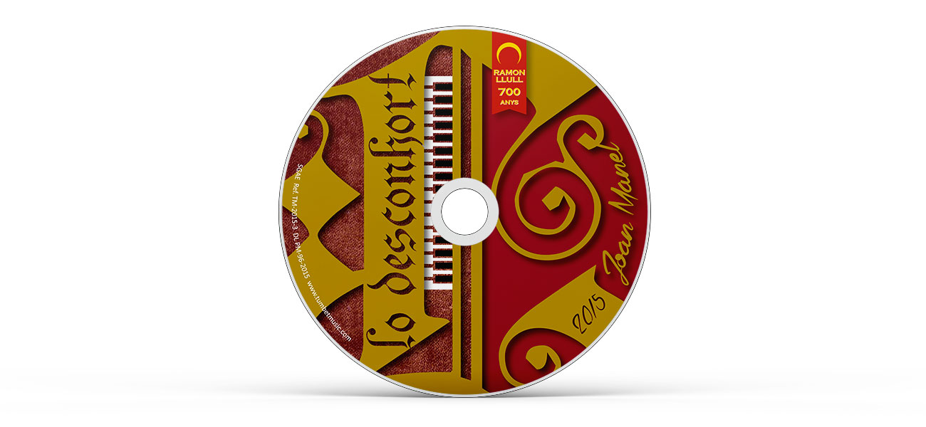 "Diseño CD/DVD galleta ""Lo Desconhort"" Ramon Llull"