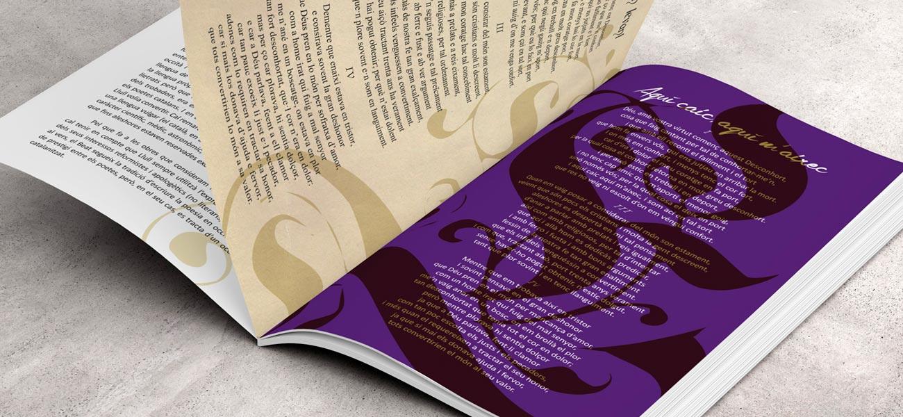 "Diseño CD/DVD libreto ""Lo Desconhort"" Ramon Llull"