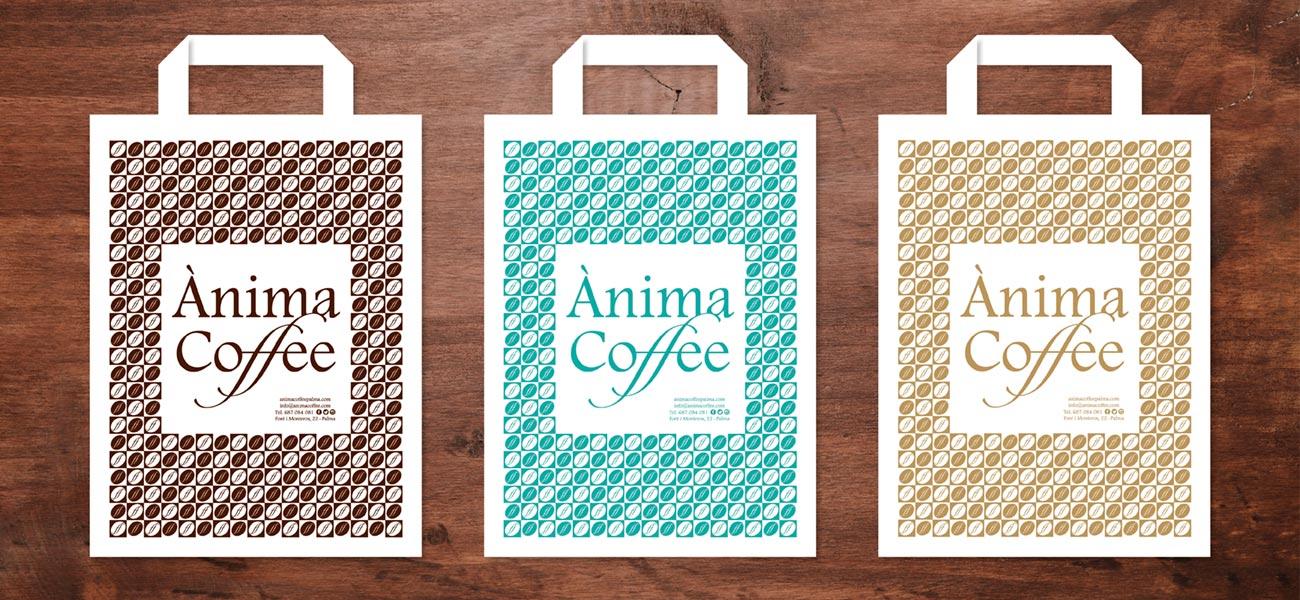 "Diseño de bolsa ""Ànima Coffee"""
