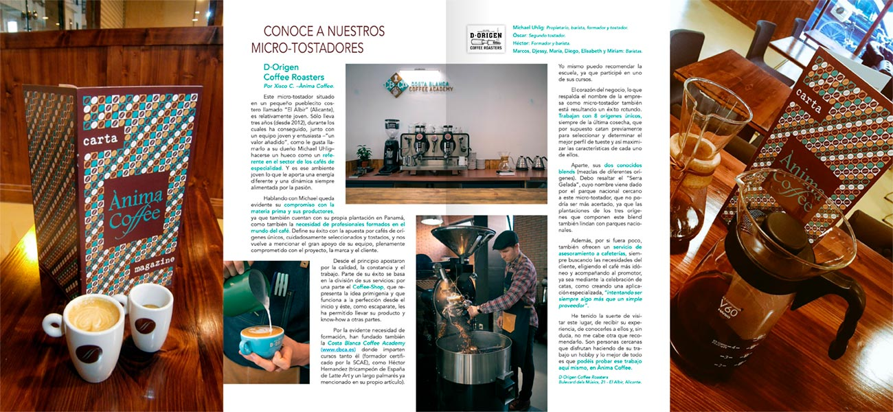 "Diseño de revista carta restaurante ""Ànima Coffee"""