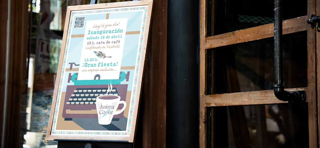 "Diseño de cartel ""Ànima Coffee"""