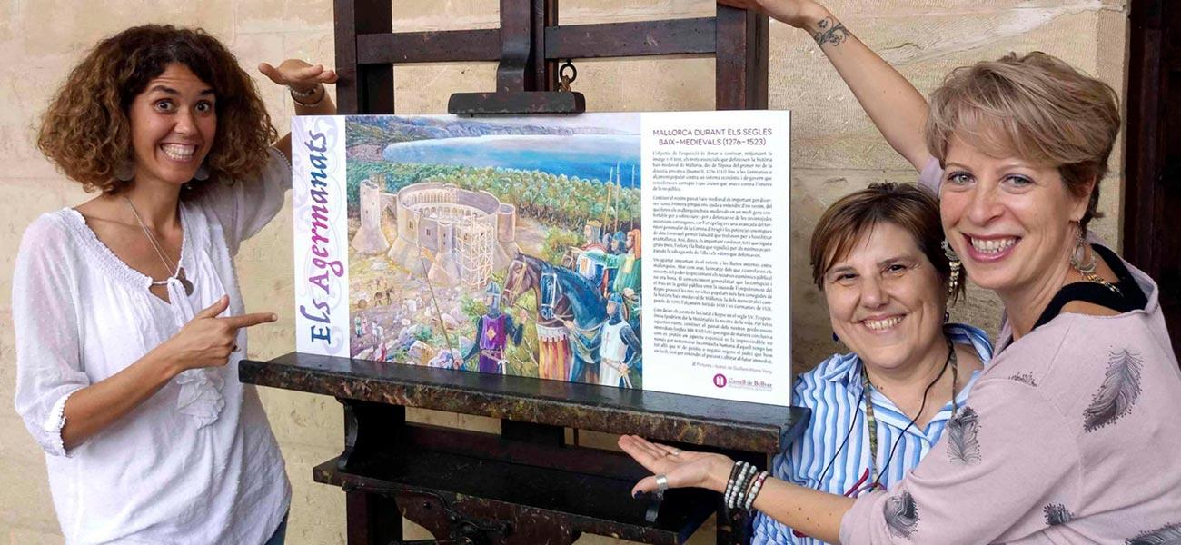 "Diseño cartel ""Els Agermanats"" expo Castell de Bellver"