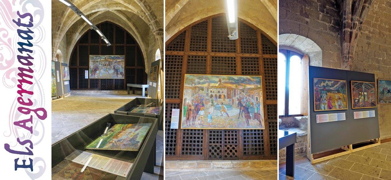 """Diseño cartel y cartelas """"Els Agermanats"""" expo Castell de Bellver"""