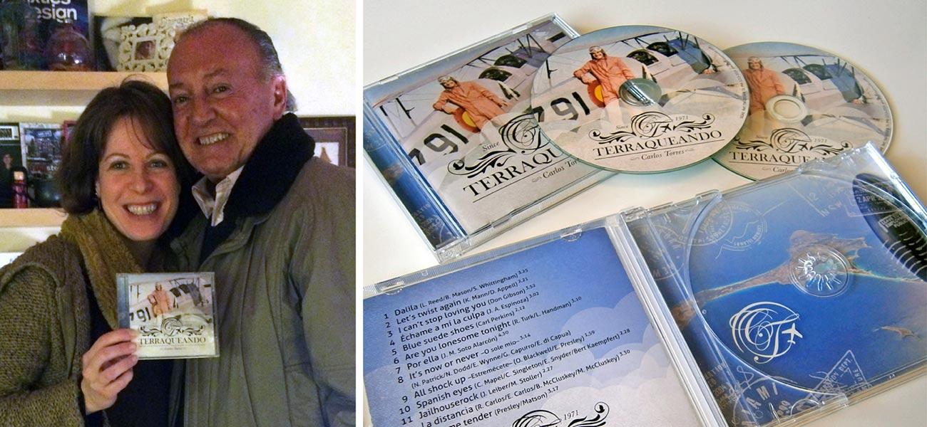 """Diseño CD """"Terraqueando"""" Carlos Torres"""