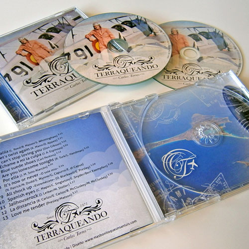 """Diseño CD (carátula, galleta, libreto) """"Terraqueando"""" Carlos Torres"""