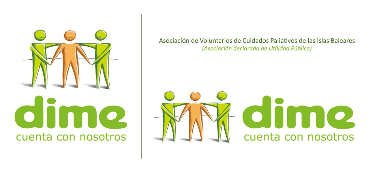 Rediseño logotipo DIME Voluntarios Cuidados Paliativos Islas Baleares