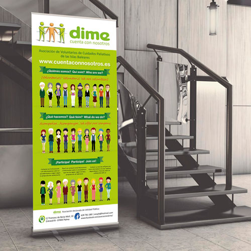 """Diseño identidad corporativa """"DIME"""" Voluntarios Cuidados Paliativos"""