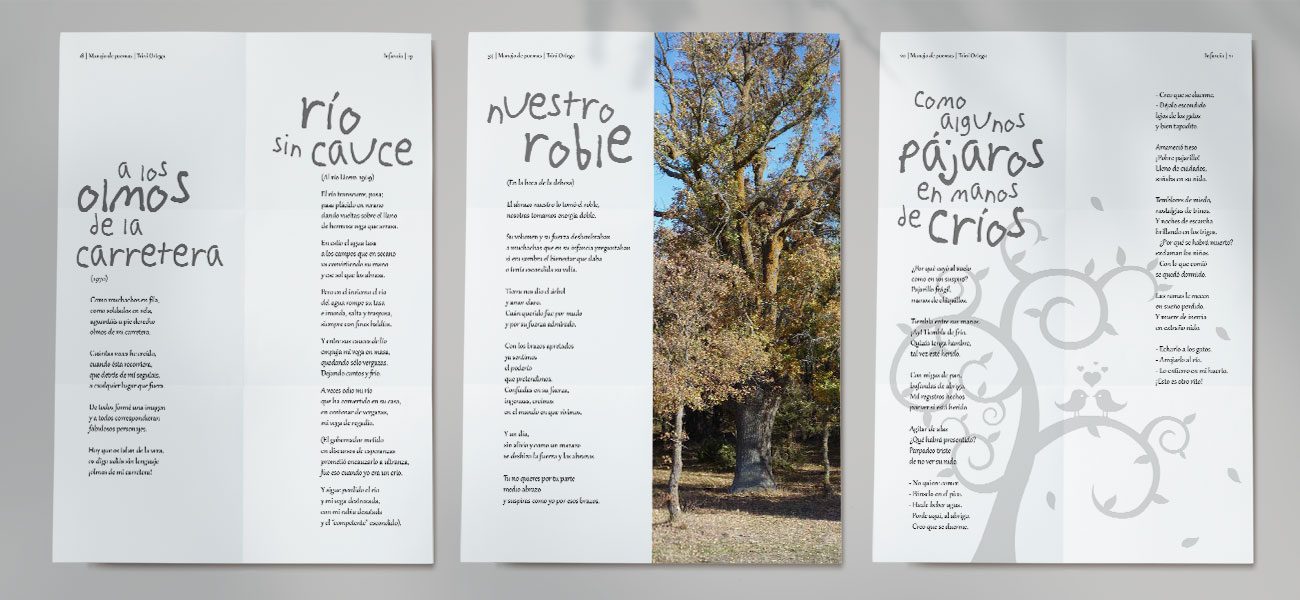 """Diseño y maquetación editorial """"Manojo de Poemas"""""""