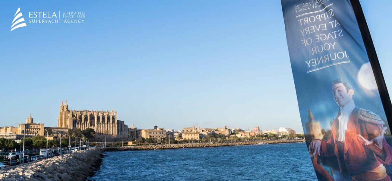 """Diseño banderola Estela Shipping """"Yachting Itineraries"""""""