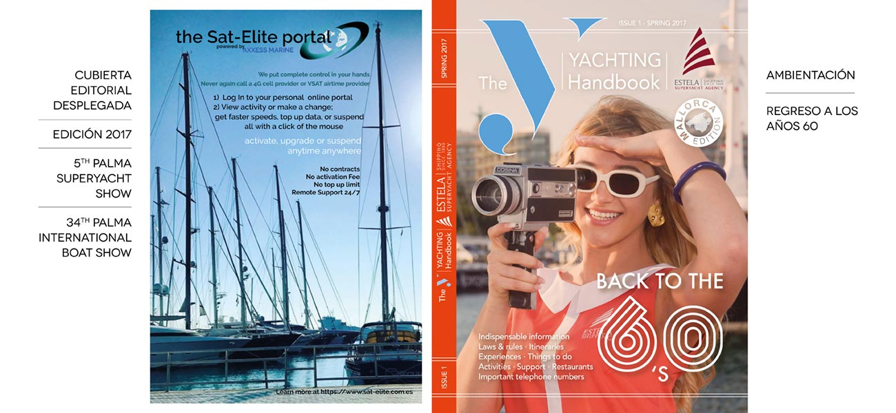 "Diseño cubierta editorial Estela Shipping ""Yachting Itineraries"""