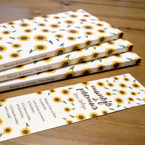 """Diseño y maquetación editorial """"Manojo de Poemas"""" marcapáginas"""