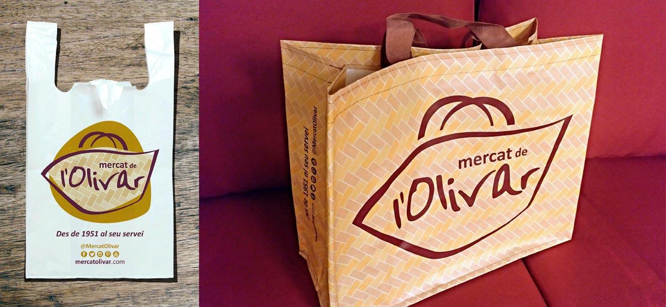 """Diseño de bolsa reutilizable """"Mercat de l'Olivar"""""""
