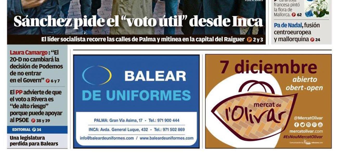 """Diseño de faldón prensa """"Mercat de l'Olivar"""""""