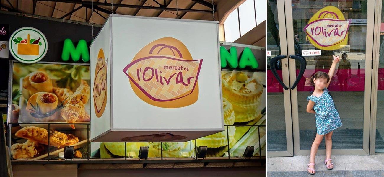 """Diseño de marca """"Mercat de l'Olivar"""""""