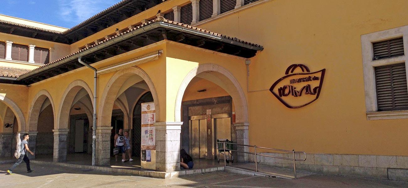 """Diseño de rotulación fachada """"Mercat de l'Olivar"""""""