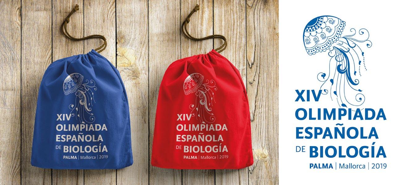 Diseño bolsa mochila XIV Olimpiada Española de Biología OEB UIB