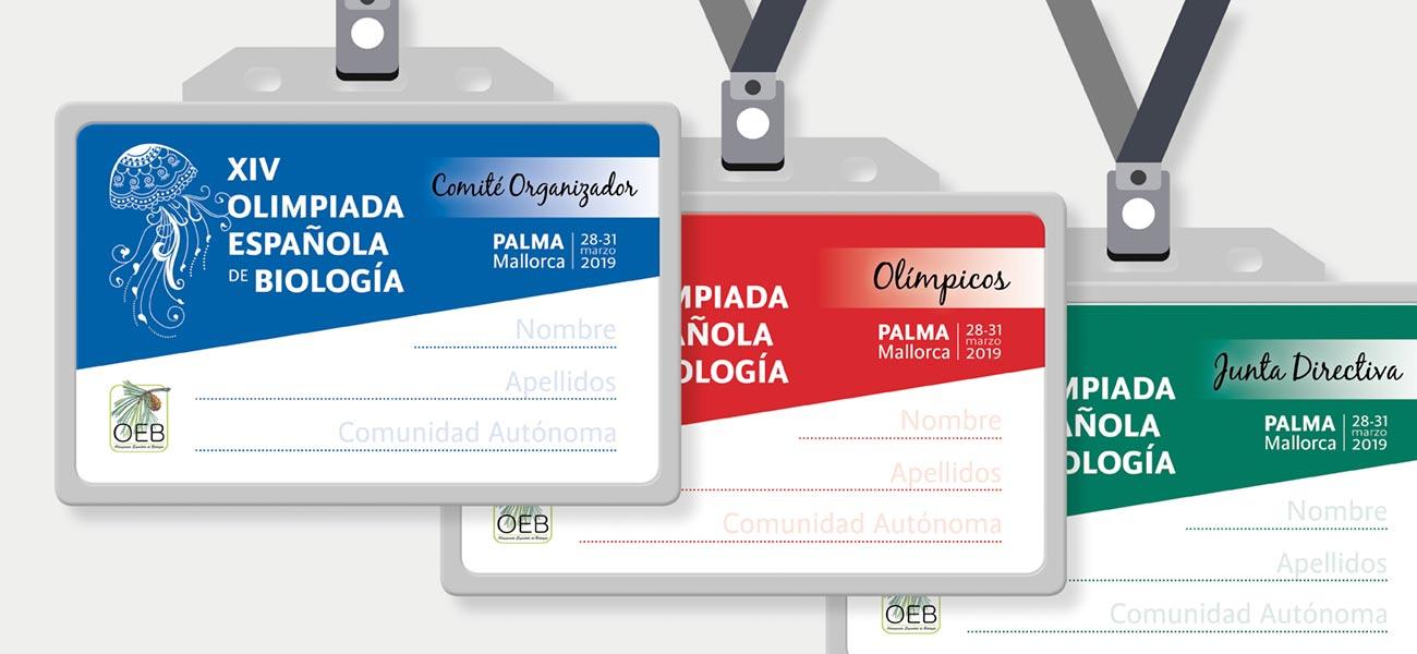 Diseño identificadores XIV Olimpiada Española de Biología OEB UIB