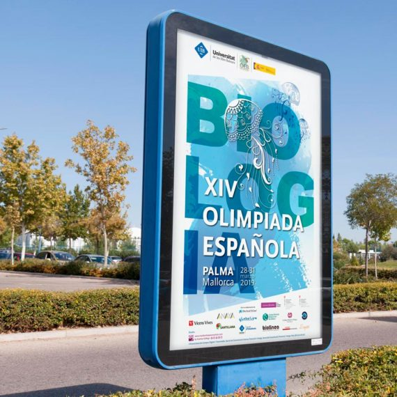 Diseño imagen evento XIV Olimpiada Española de Biología OEB UIB