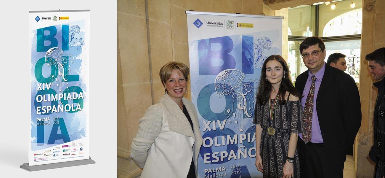 Diseño roll-up XIV Olimpiada Española de Biología OEB UIB