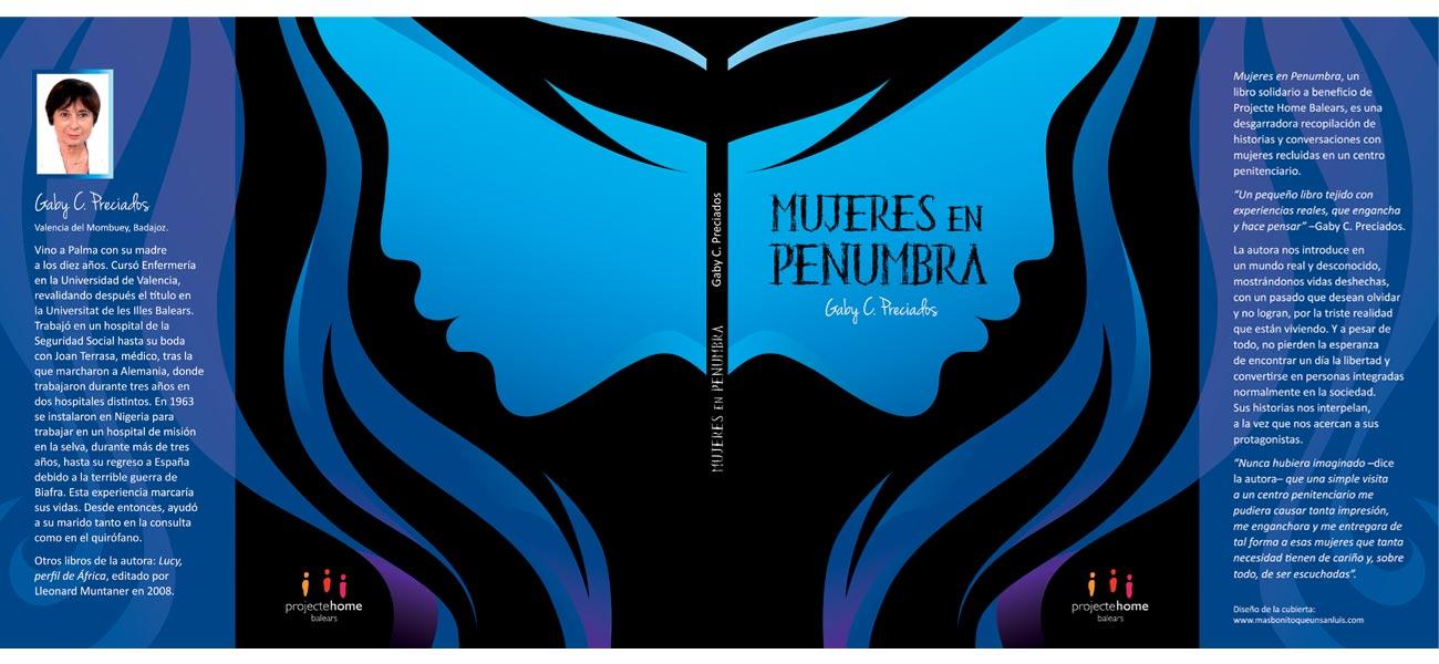 "Diseño cubierta editorial ""Mujeres en penumbra"" Projecte Home Balears"