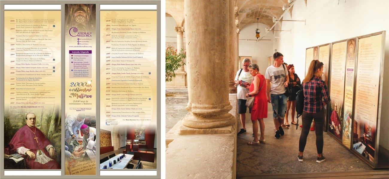 Diseño de panel explicativo expo claustro Catedral de Mallorca