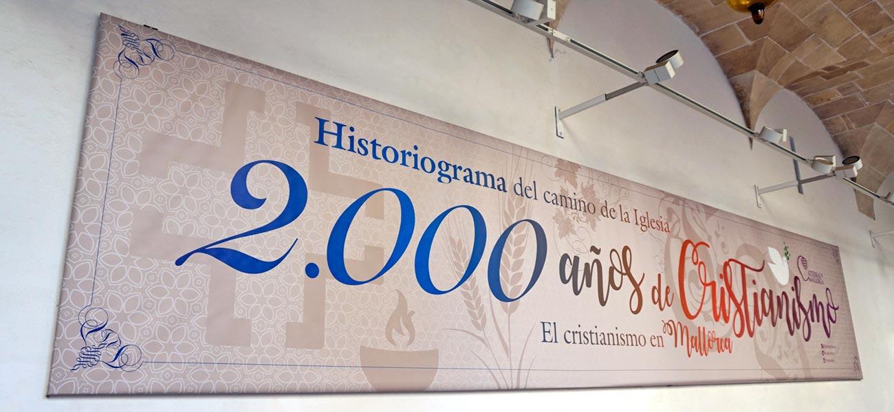 Diseño de cartel lona expo claustro Catedral de Mallorca